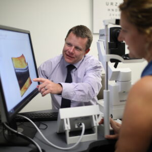 Centre For Eye Health helping a patient